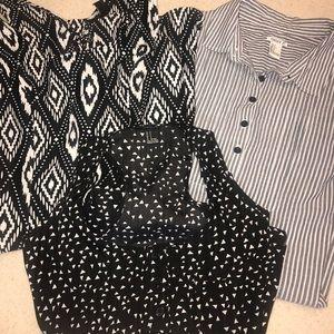 (3) Forever 21 Dresses Black and White